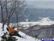 Andy taking in the view of the valley., uploaded by Bushiman  [ABLE Hakuba GORYU, Hakuba Village, Nagano]