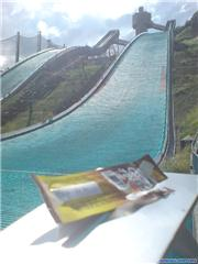 Cheesy ski jumper, uploaded by Mick Rich  [Hakuba Goryu, Hakuba Village, Nagano]