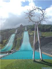 Olympic ski jumps, uploaded by Mick Rich  [ABLE Hakuba GORYU, Hakuba Village, Nagano]