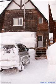 My front door in Higashiyama, uploaded by Mike Pow  [Niseko Village Ski Resort, Niseko Town, Hokkaido]