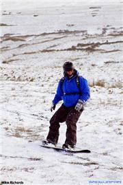 Chris riding the snow / grass hybrid of Cefn Crew, uploaded by Mike Pow