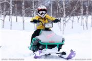 My kid on his sled out back of the resort, uploaded by Minakami photos  [Minakami Kogen Ski Resort, Minakami Town, Gunma]