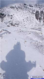 looking into the crater of Mt Yotei Monday 15 Oct. Self portrait photo Mike Richards, uploaded by NisekoNow  [Niseko Mountain Resort Grand Hirafu, Kutchan Town, Hokkaido]