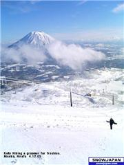 A view of Yotei on a blessedly blue, fresh pow, cloudless day in Hokkaido's premier playground., uploaded by darkfootwarrior  [Niseko Mountain Resort Grand Hirafu, Kutchan Town, Hokkaido]