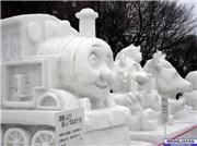 Sapporo Snow Festival 2007 Snow Sculpture. Thomas the Tank Engine., uploaded by journey_man