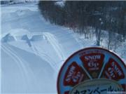 snow cheese thinks about going off the jump., uploaded by kokodoko  [Furano, Furano City, Hokkaido]