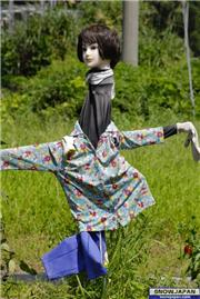 Scarecrow in Muikamachi, uploaded by muikabochi