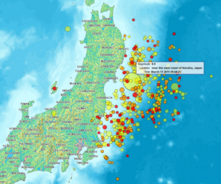 Japan Earthquake Map Today.The Great East Japan Earthquake 11th March 2011 Features Snowjapan
