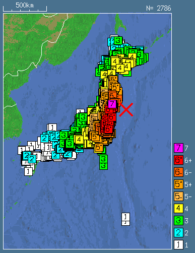 The Great East Japan Earthquake Th March Features - Japan map earthquake