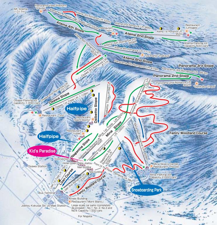 Joetsu Kokusai Minamiuonuma City Niigata Prefecture Resort - Joetsu map