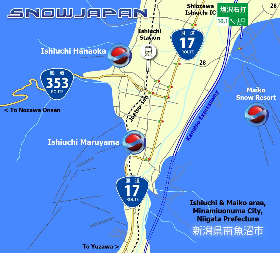 Ishiuchi Maiko Map Minamiuonuma City Niigata Prefecture - Japan map niigata
