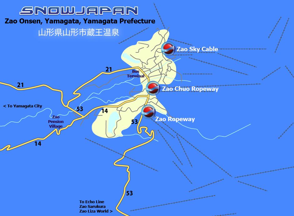 Zao Onsen Travel By Train And Bus Zao Onsen Yamagata Ski - Japan map yamagata